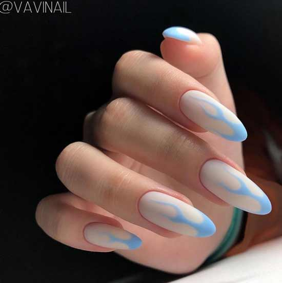 Milk manicure for tanned hands