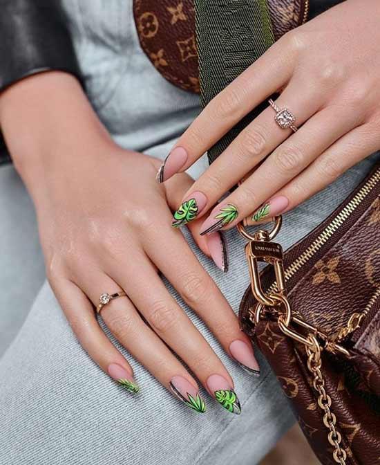 Matte manicure for dark skin