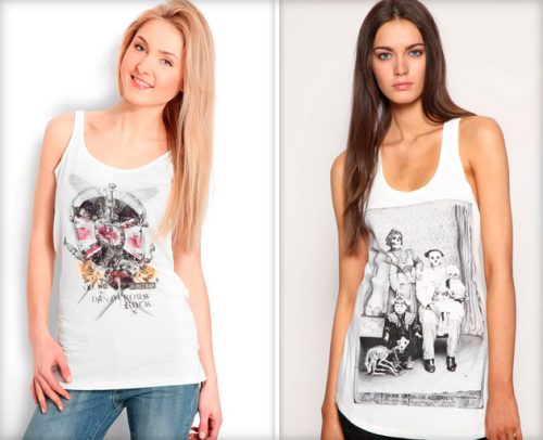 Fashion T-shirts - photos, stylish images, new items, trends