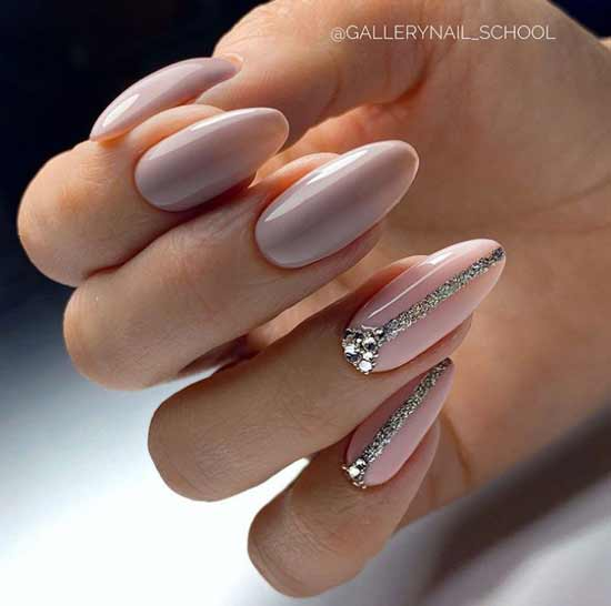 Glitter & Rhinestone Long Nails Design