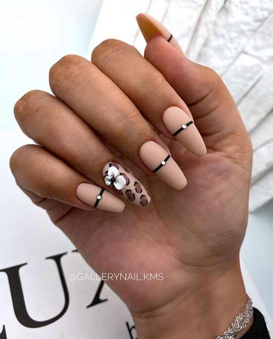 Nude design with rhinestones