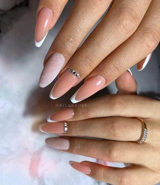 Ballerina long nails delicate design