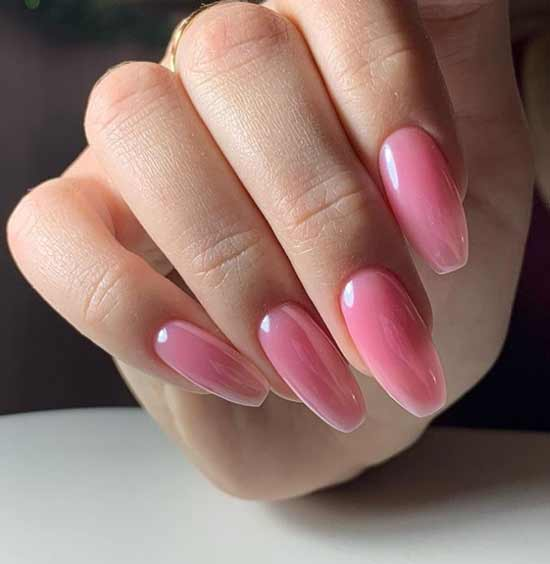Stylish manicure on ballerina nails