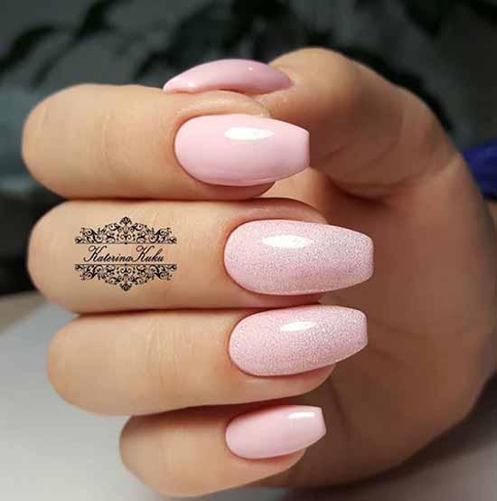 Light pink manicure