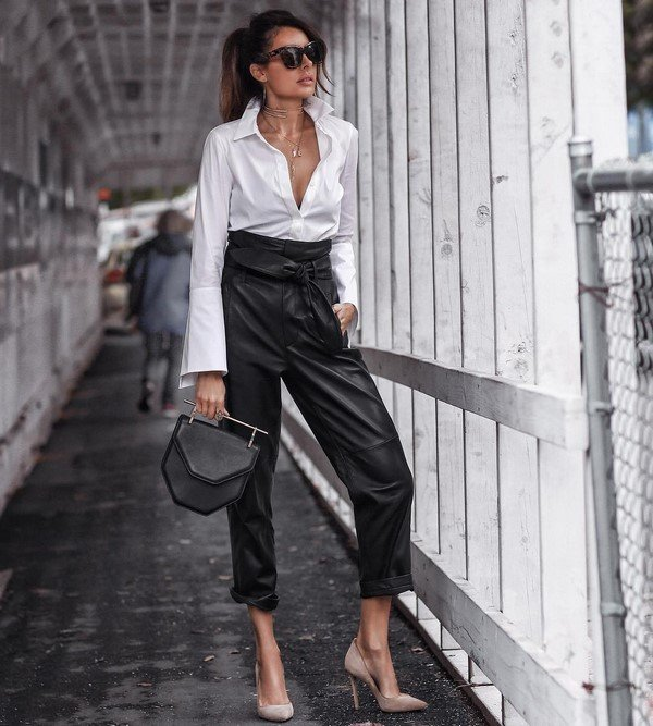 Leather clothes.  Spectacular leather clothing trends in the best looks
