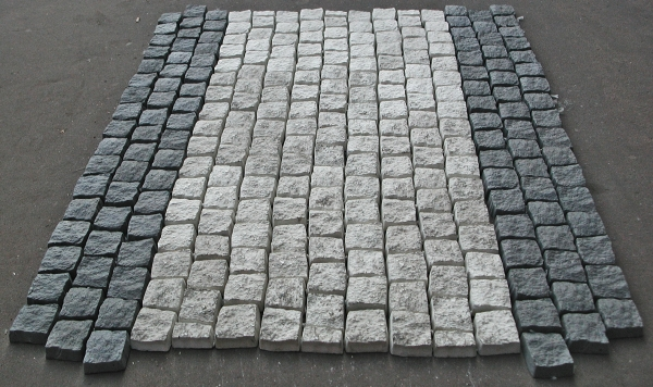 Paving stones for landscaping a mansion