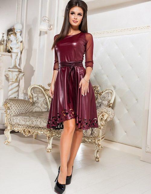 Кожаные платья - эффектный наряд для эффектных женщин