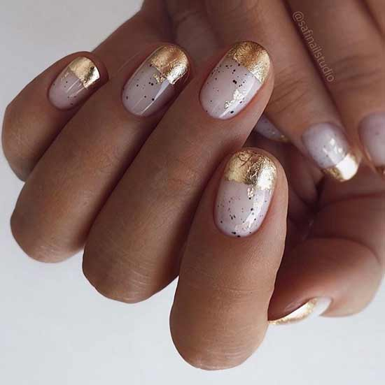 Beautiful nail designs with foil