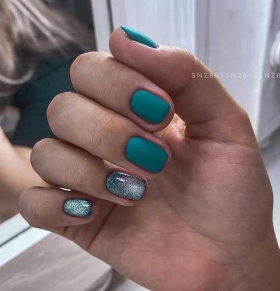 Green cat eye nails