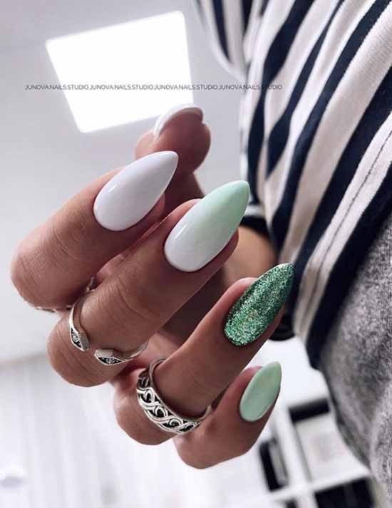 Gradient on nails green