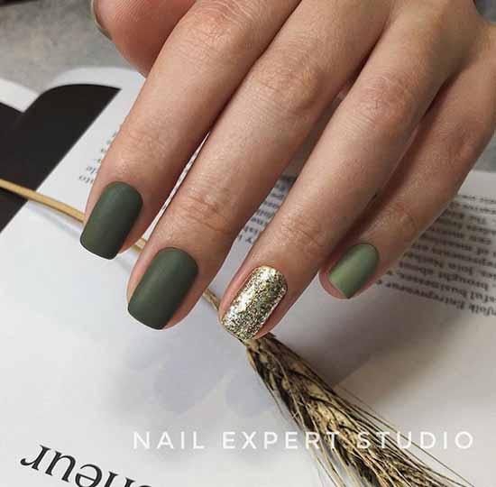 Matte green nail designs