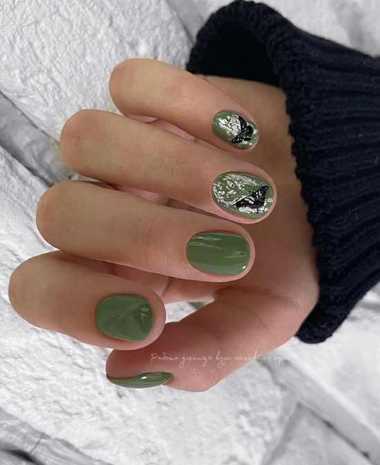 Beautiful green manicure