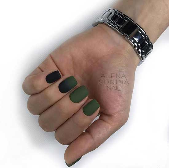 Khaki manicure