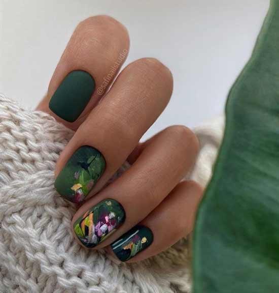 Green manicure novelties