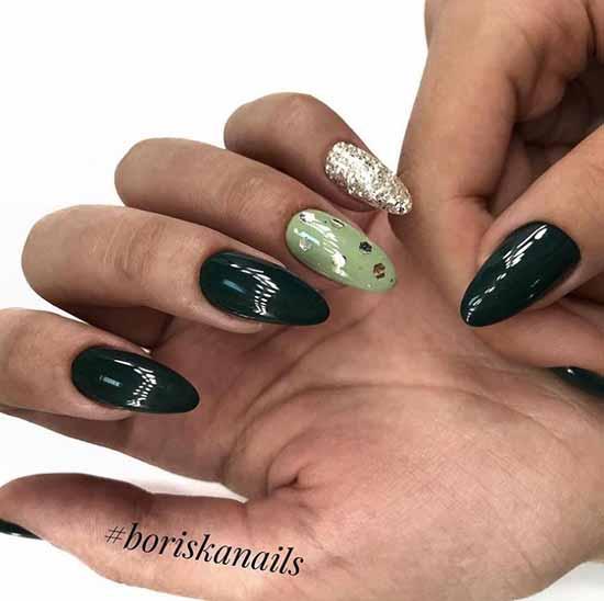 Dark green with sequins
