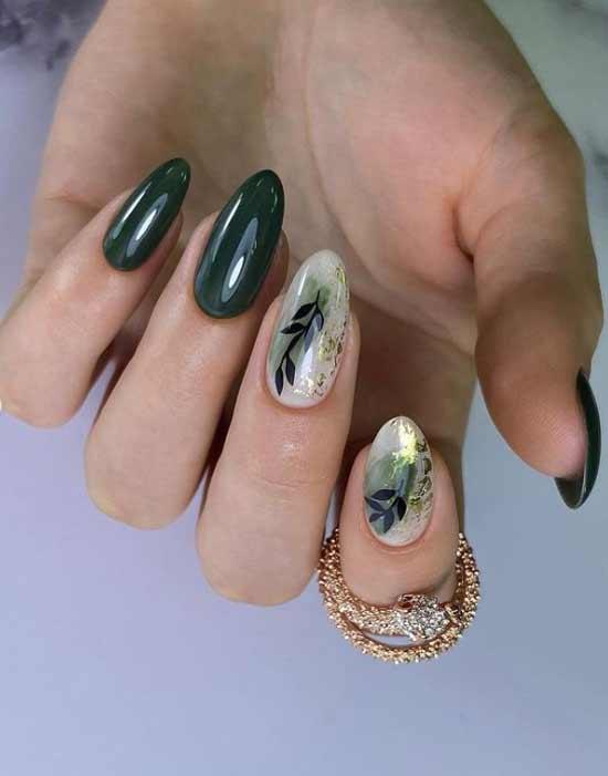 Khaki manicure design