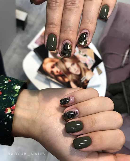 Khaki manicure trends