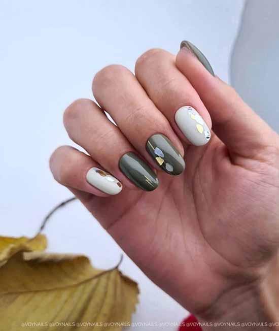 Khaki manicure: the best design, 100 photos, new items