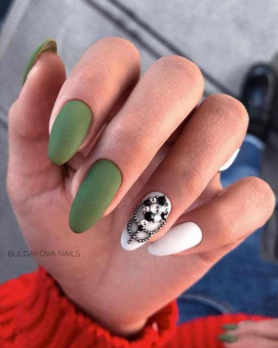 Khaki for long nails
