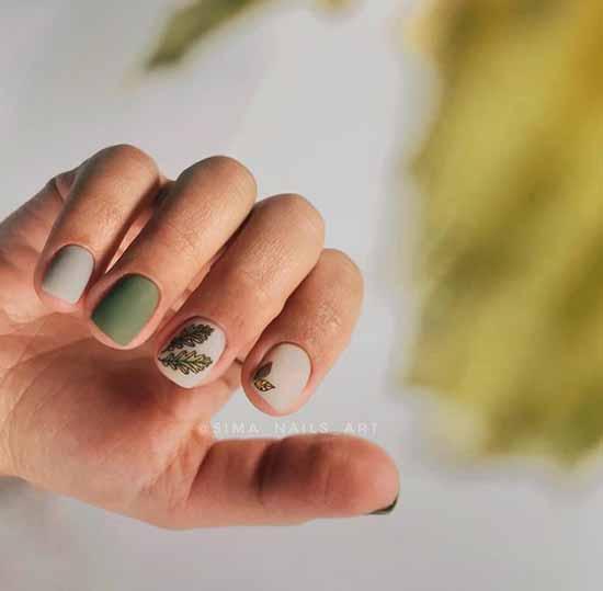 Khaki short nails