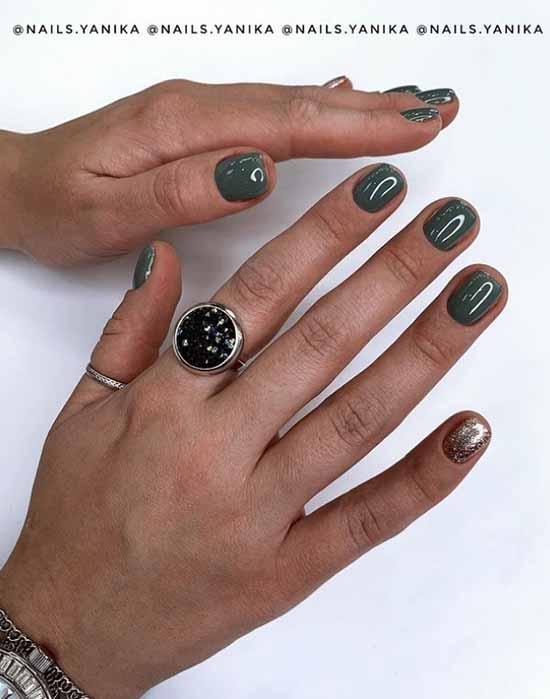 Khaki for short nails