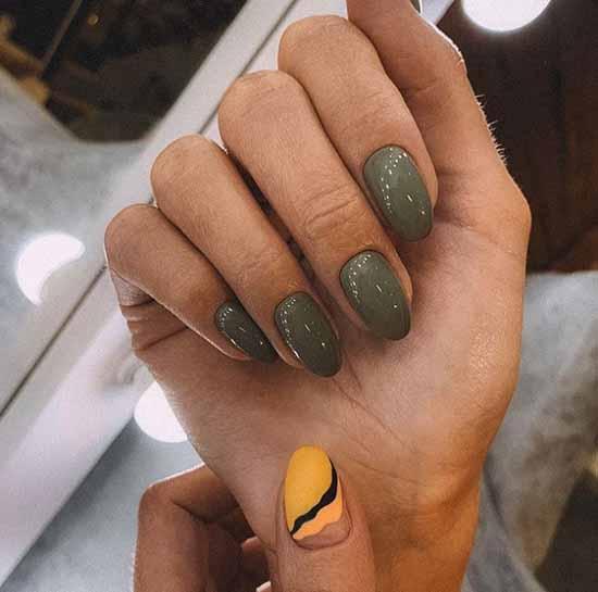 Khaki medium nail length