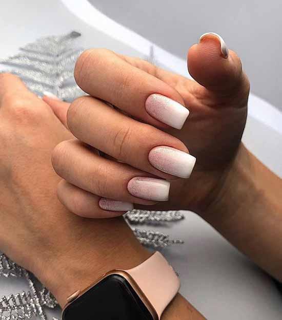 White to beige gradient sequins