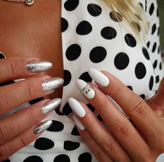 White sequins miscellaneous hands design