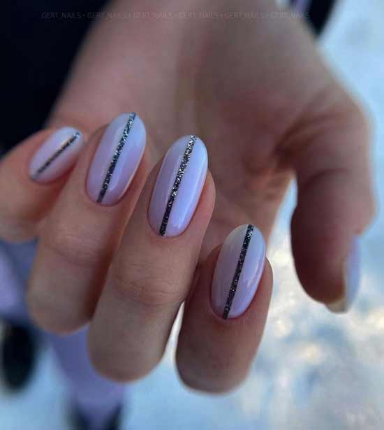 White with glitters and lines