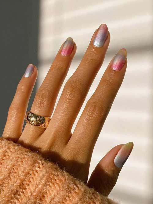 Manicure trend 2021 mother of pearl