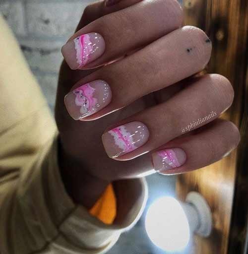 Pink trendy manicure