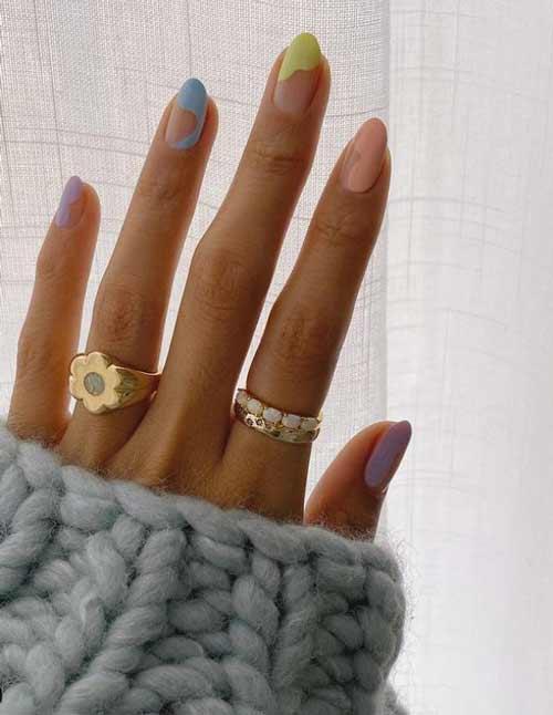 Fashionable French manicure