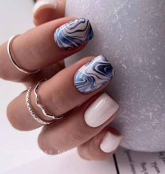 Stamping manicure trend zigzags