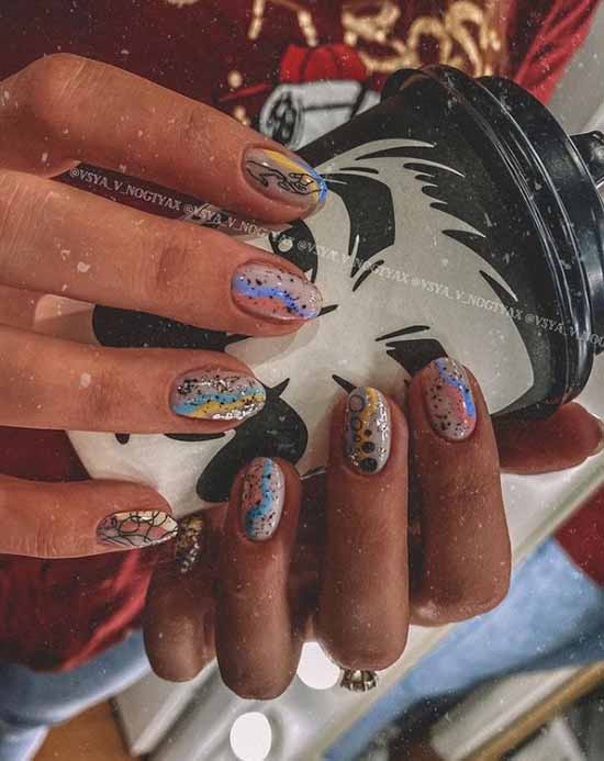 Fashion abstraction nails