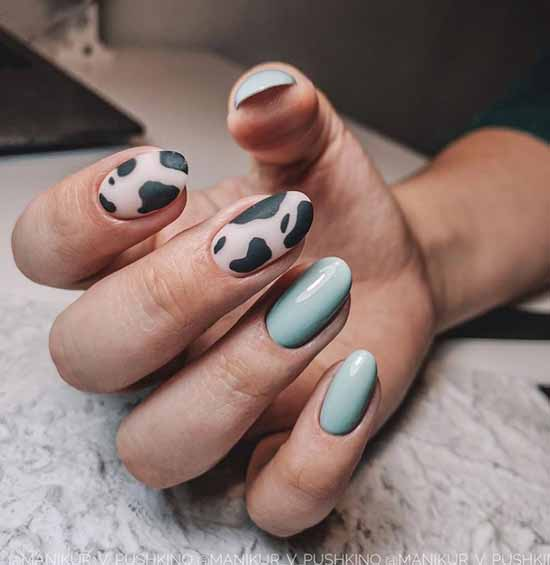 Fashion manicure print