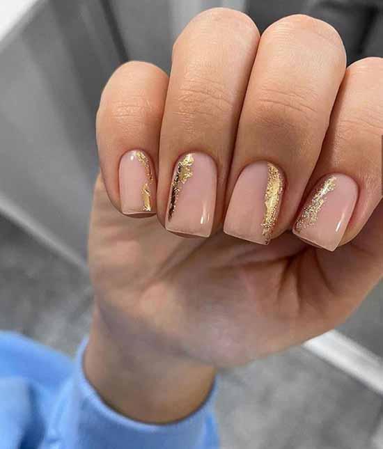 Fashionable nude manicure