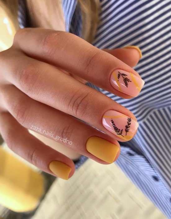 Yellow manicure fashion 2021