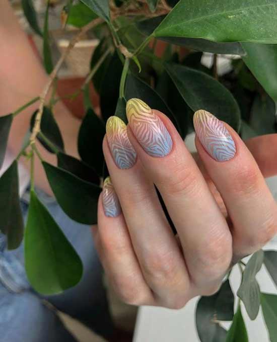 Fashion stamping manicure