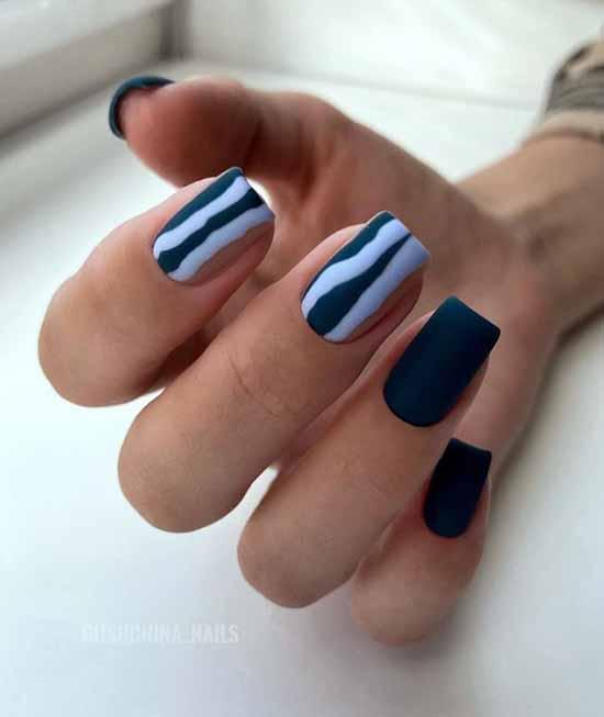 Fashionable black manicure