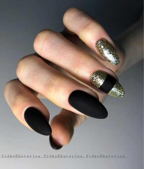 Black matte manicure photo