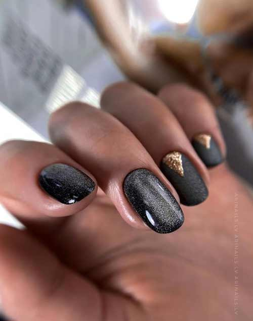 Black moon manicure
