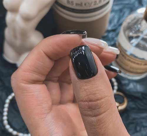 Black + milk manicure