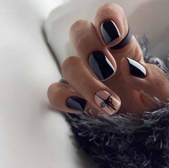 Black nude manicure