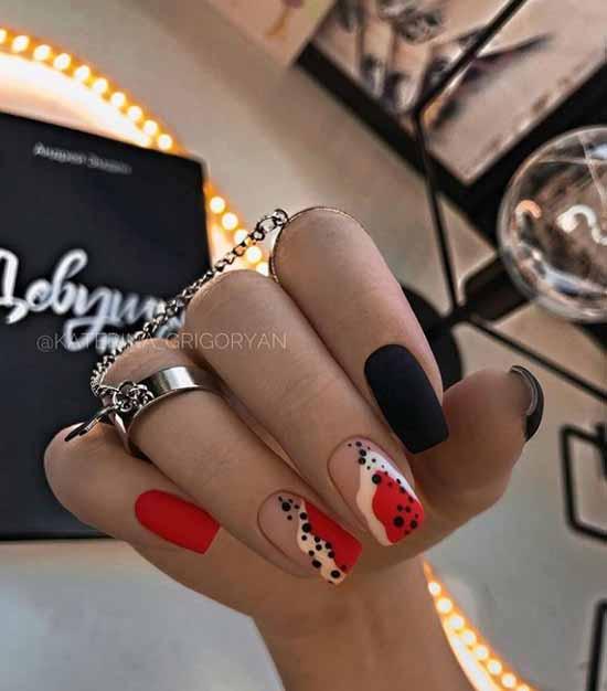 Black manicure 2021: photo, original design