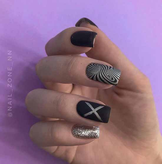 Beautiful black nail art