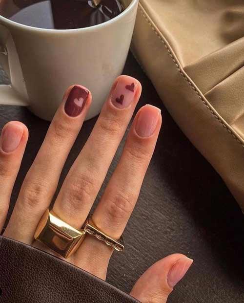 Minimalism manicure heart