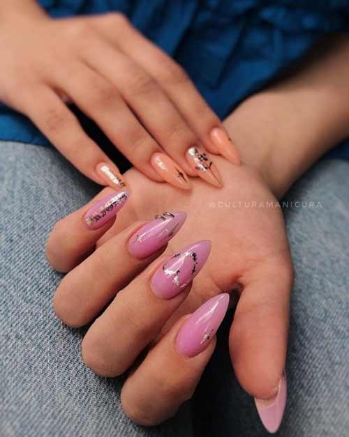 Silver Heart Manicure