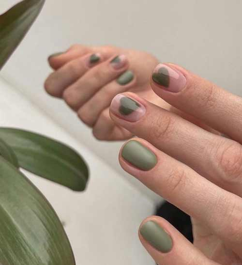 Green heart manicure