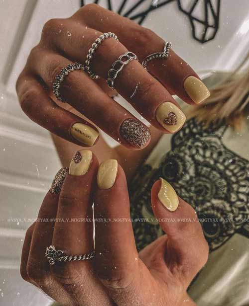 Heart of gold on nails