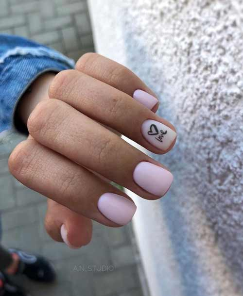 Nails heart in the style of minimalism
